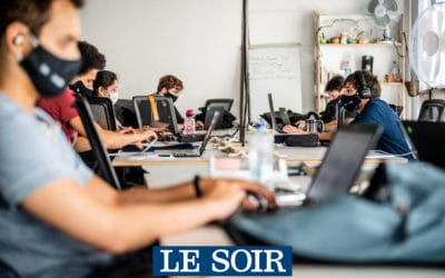 Le Soir: 5 years of financing for coding school BeCode