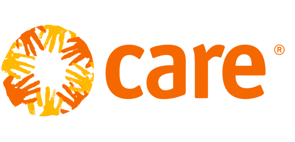 Logo of CARE, the NGO selected to receive funding through the MHM Impact Bond